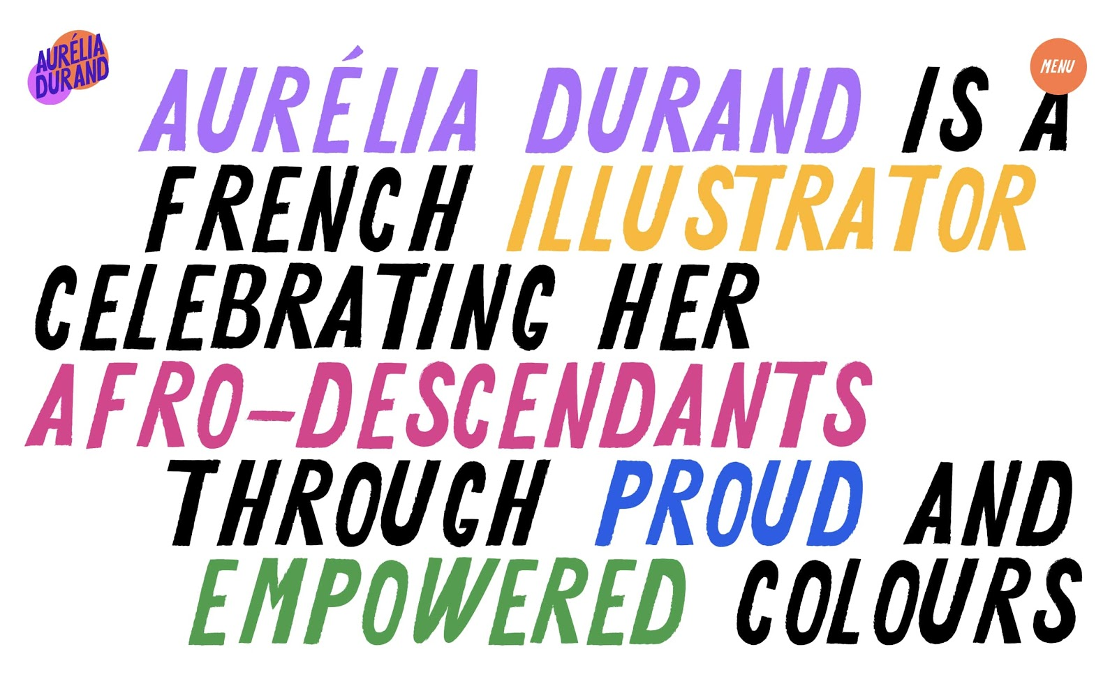 """An image of Aurelia Durand's """"About"""" section on her website."""