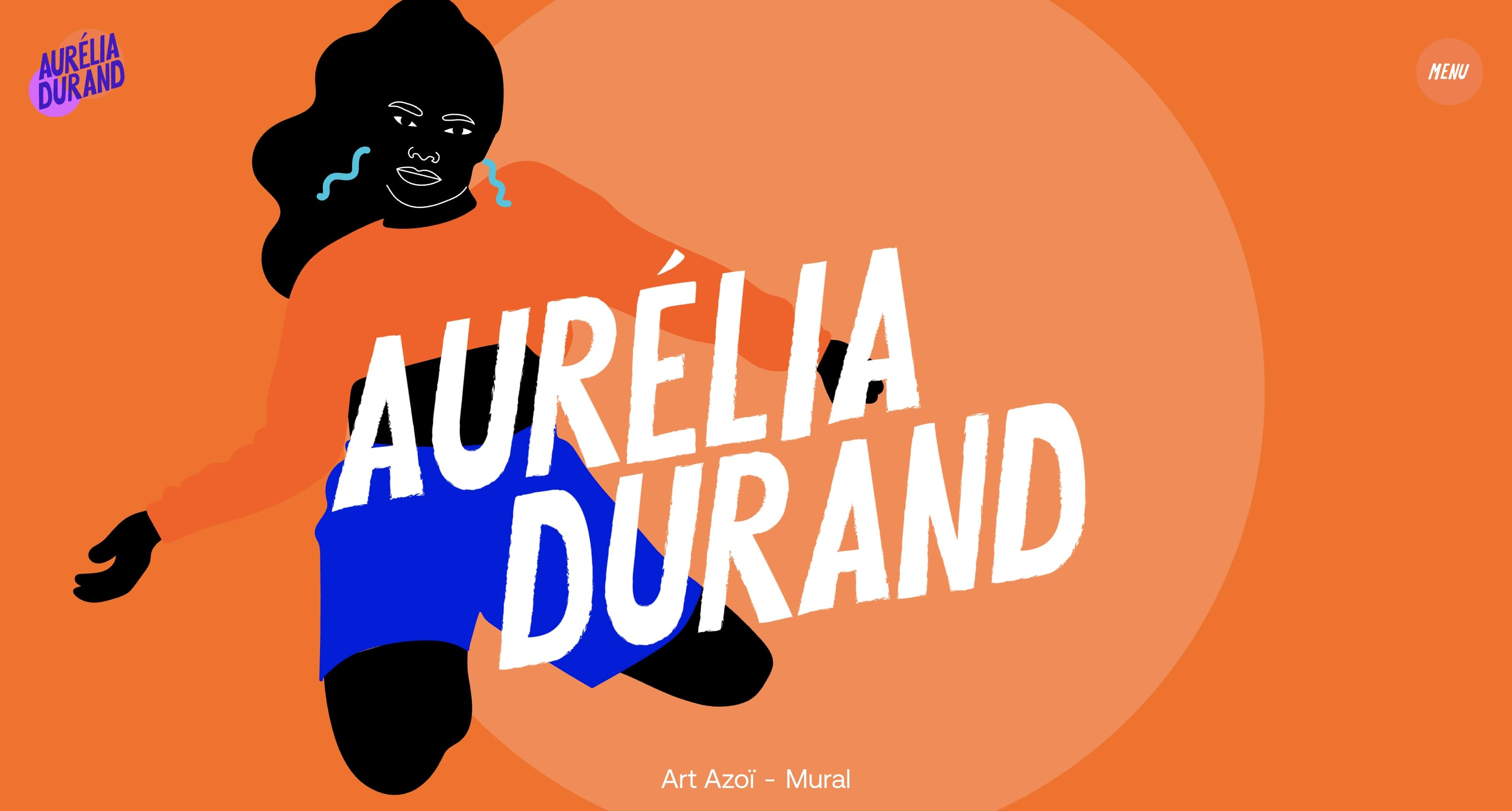 An image of Aurelia Durand's home page.