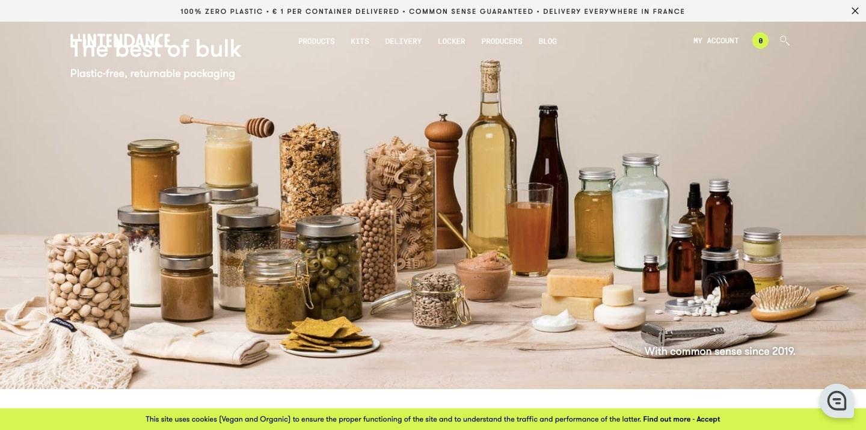 An image of the L'intendance website.