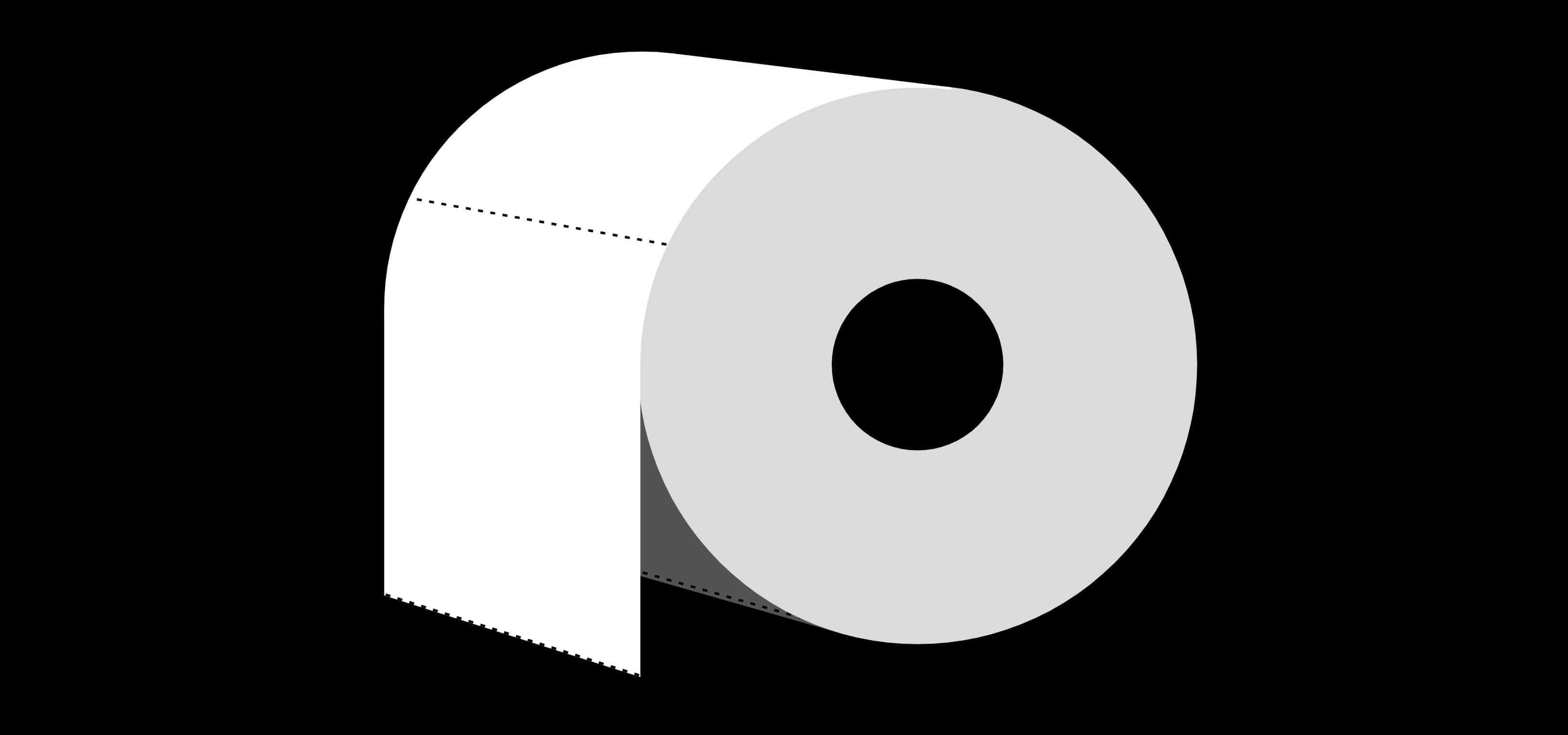 An image of a toilet paper roll on the Paper Toiler website.