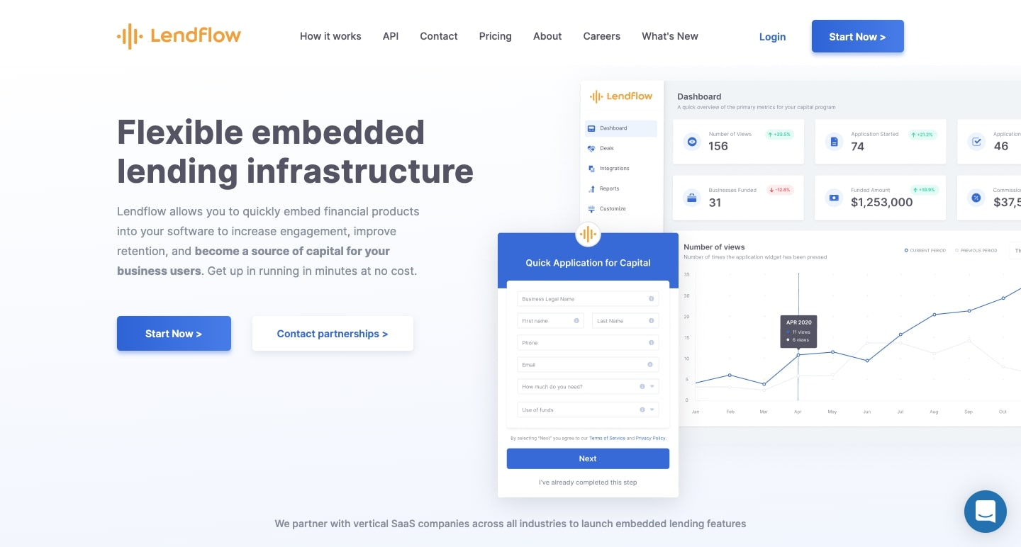 An image of the Lendflow website.