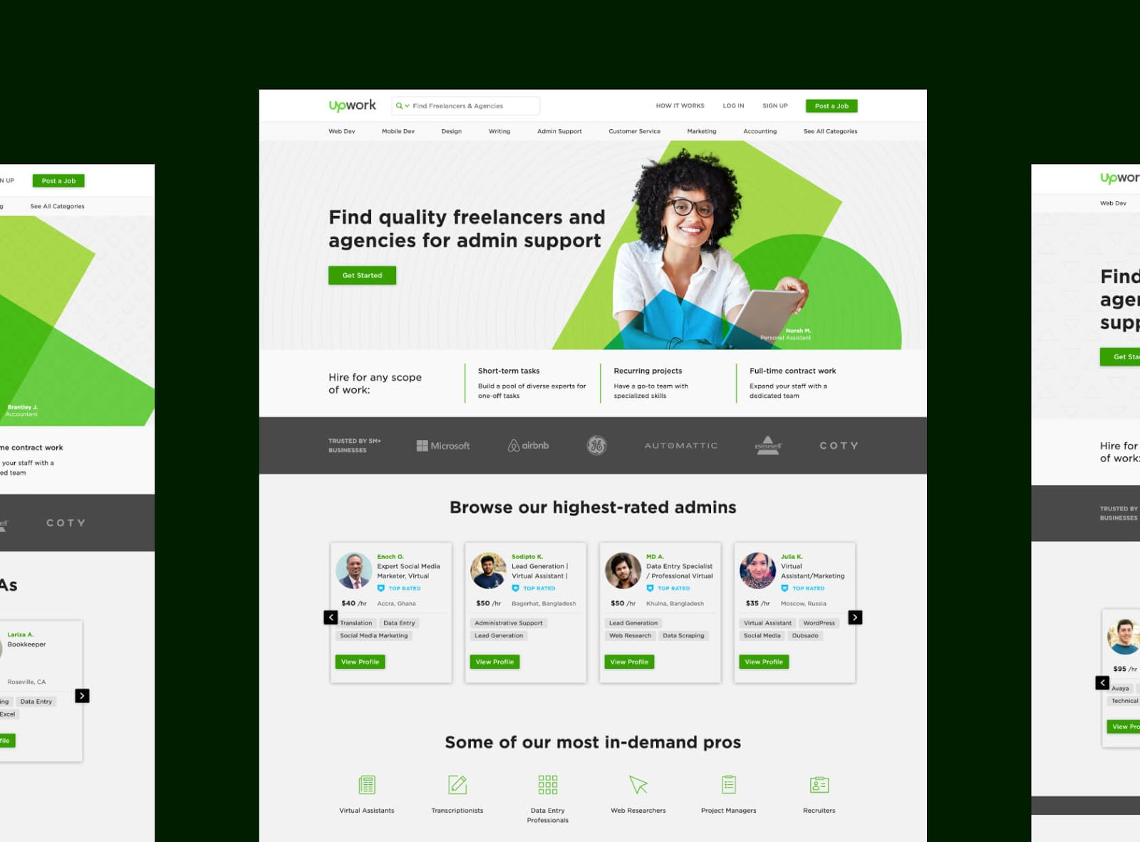 An image of the Upwork website.