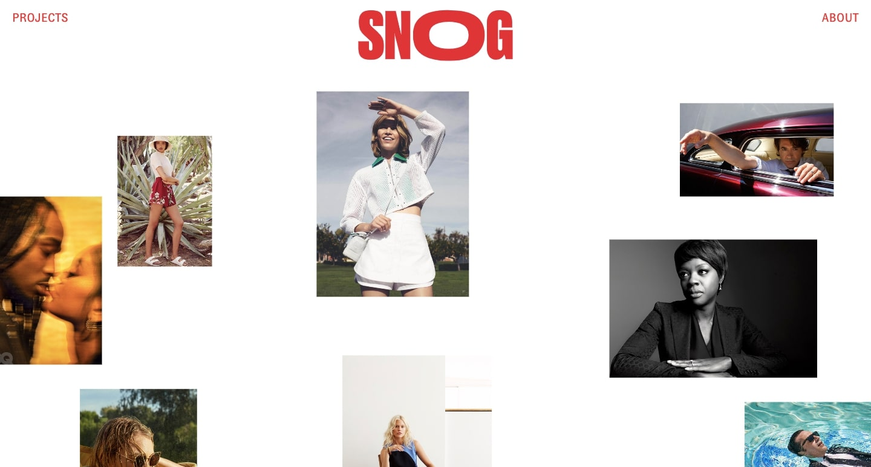 An image of Snog Production's website.