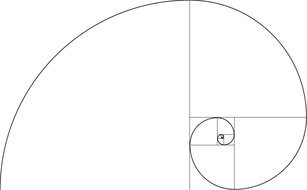 Una imagen de la espiral de Fiobonacci.