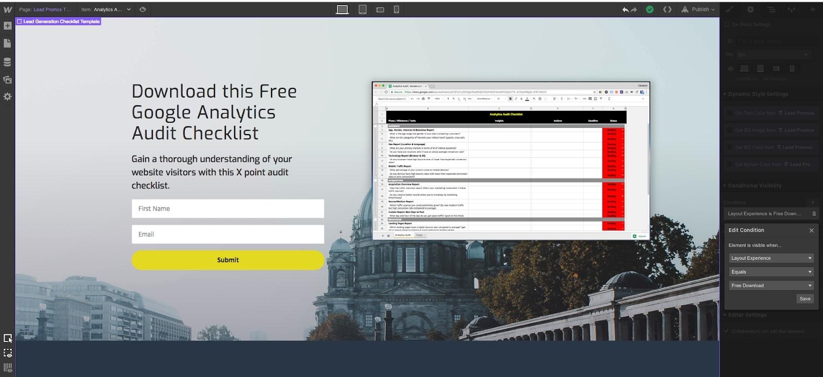 web design in webflow