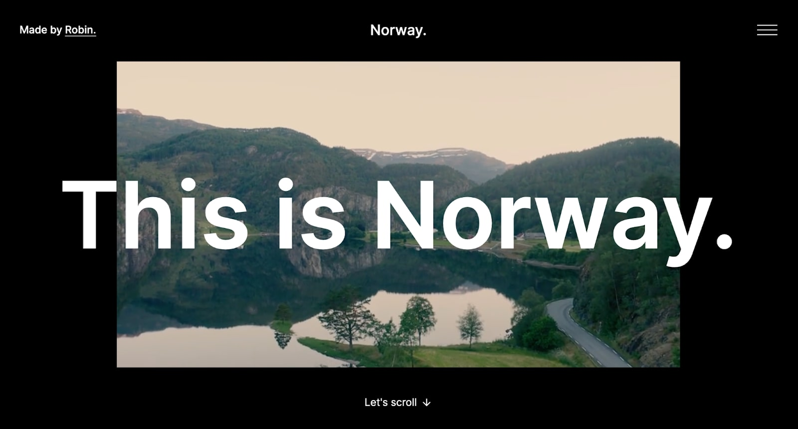 An image of the Norway website.