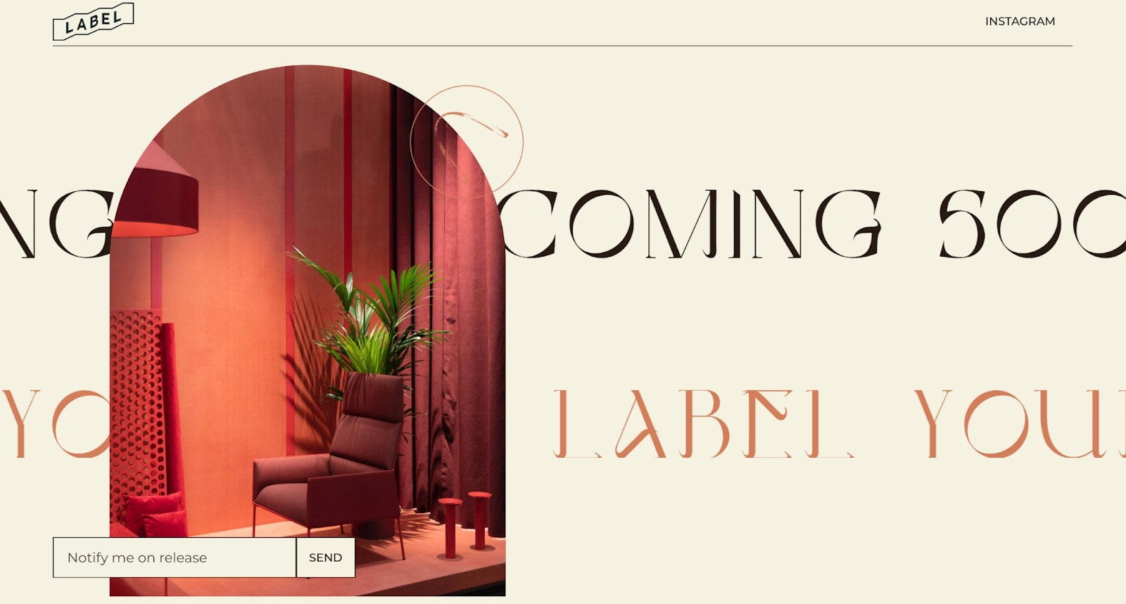 An image of Label Clothing's website.