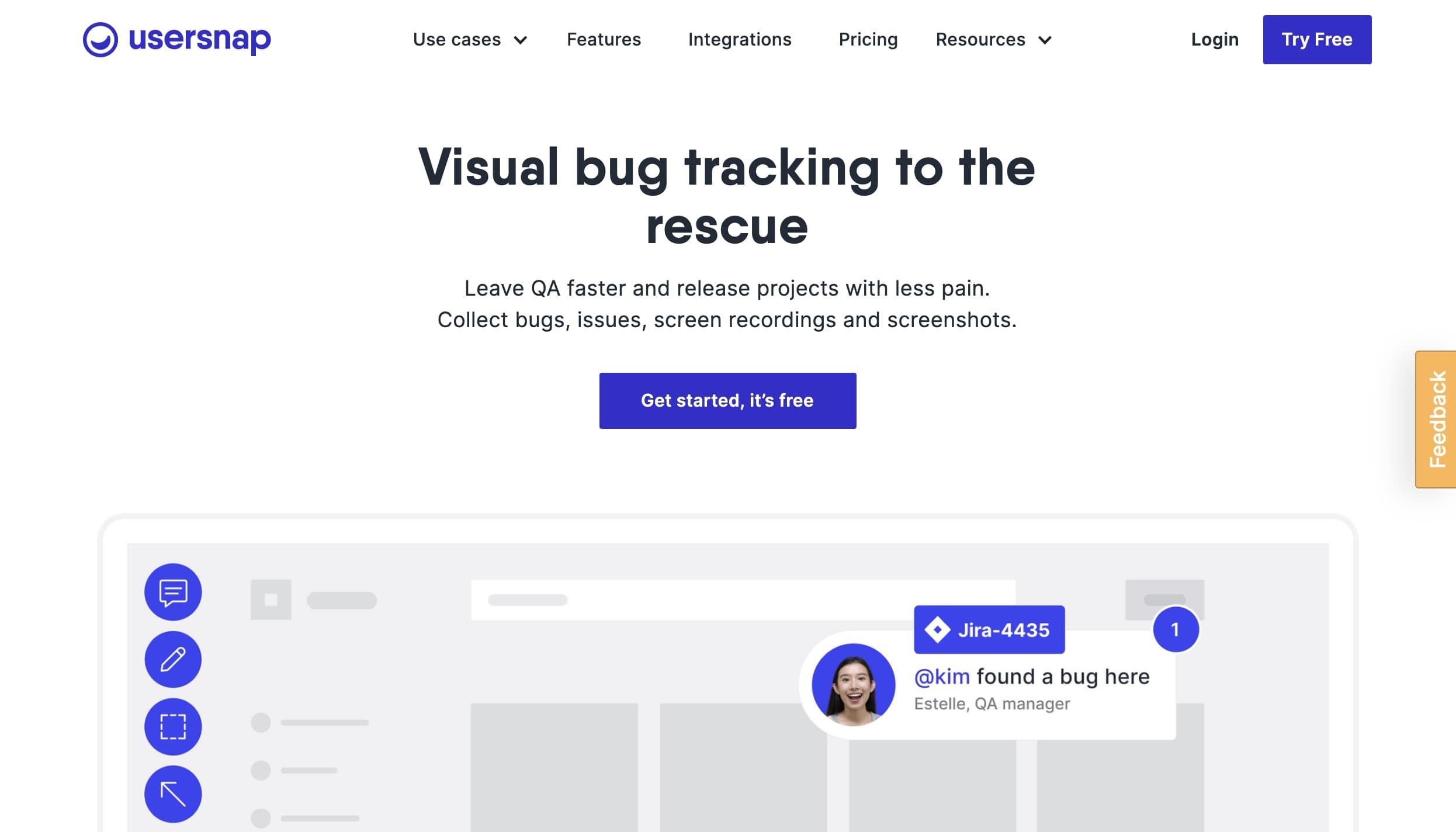 usersnap website