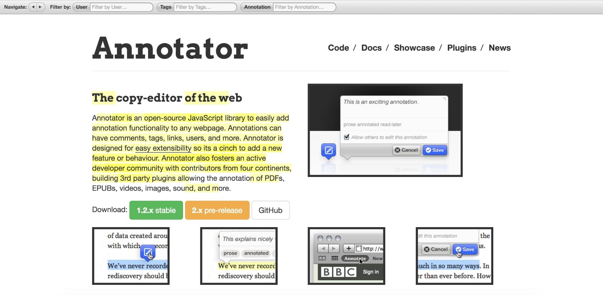 annotator copy editor