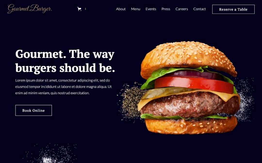 gourmet burger webflow template