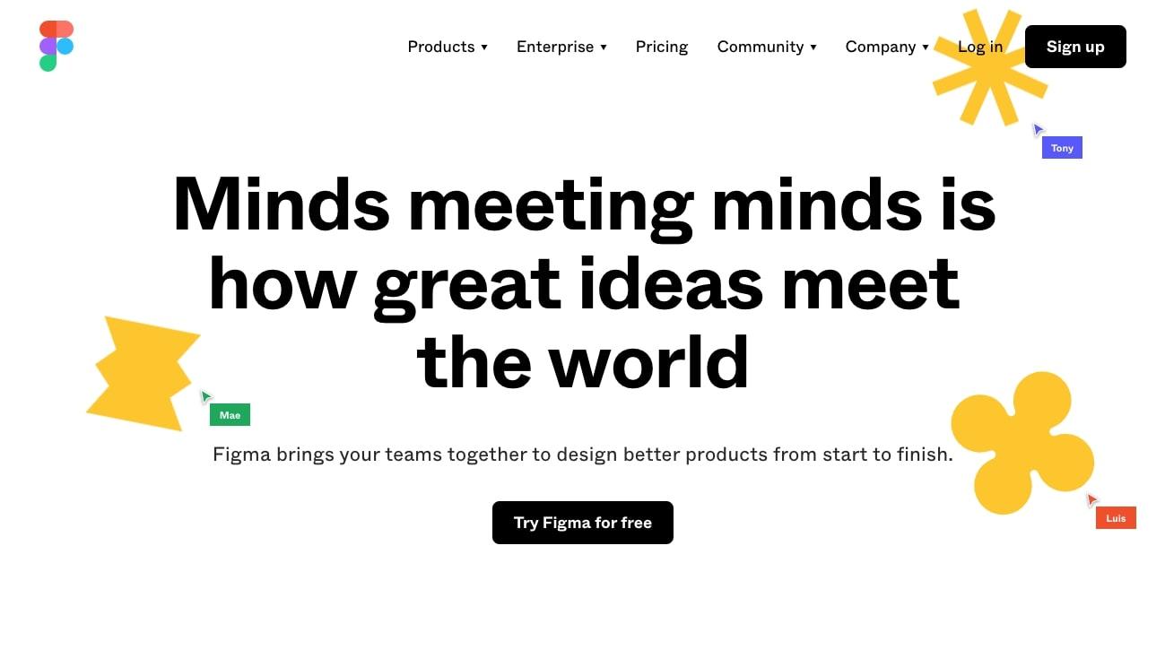 Figma design tool website