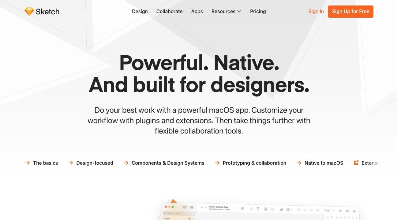 Sketch design tool website