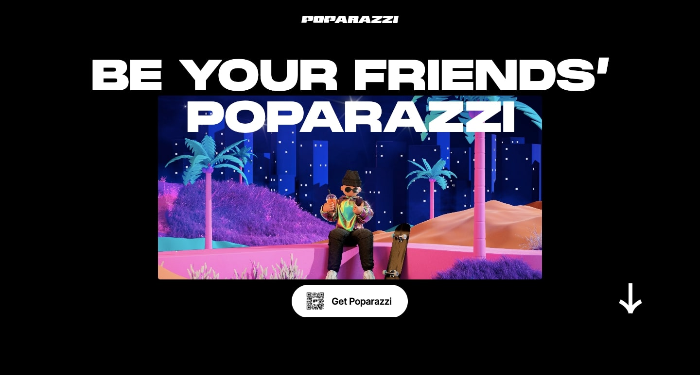 An image of the Poparazzi website.