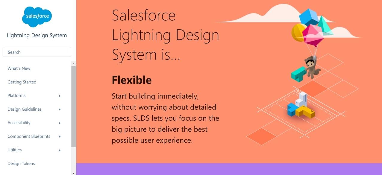 An image of Salesforce's Lightning Design System.