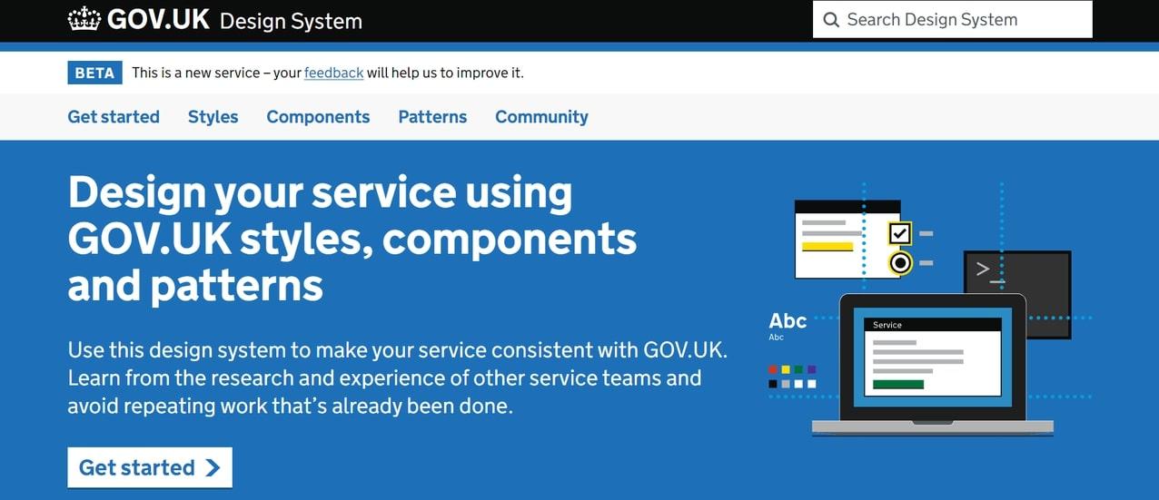 An image of the GOV.UK design system