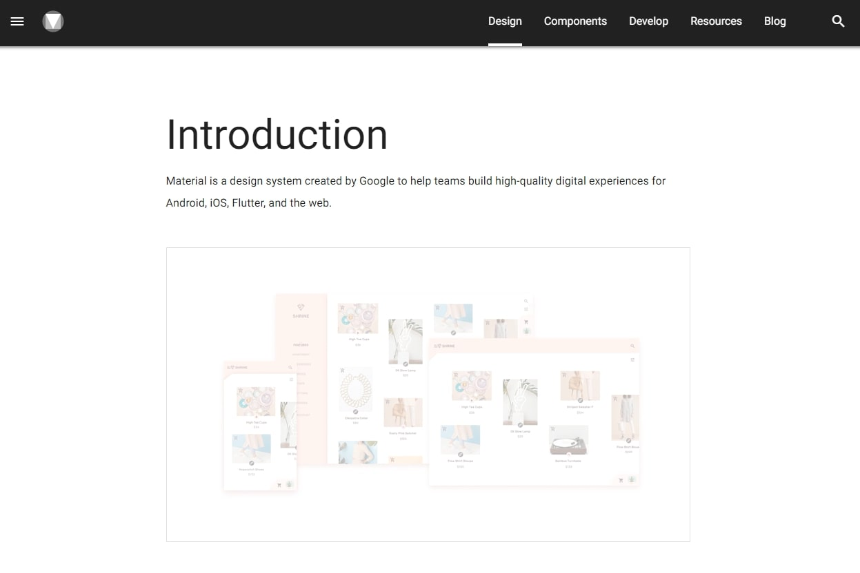 An image of the Google Material Design introduction.
