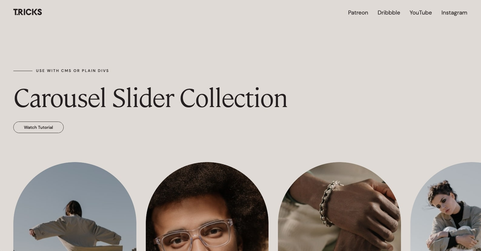 An image of the Carousel Slider Collection cloneable by Tim Ricks.