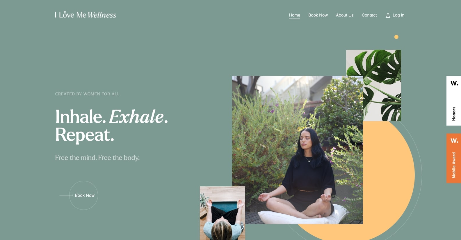 An image of the I Love Me Wellness website.