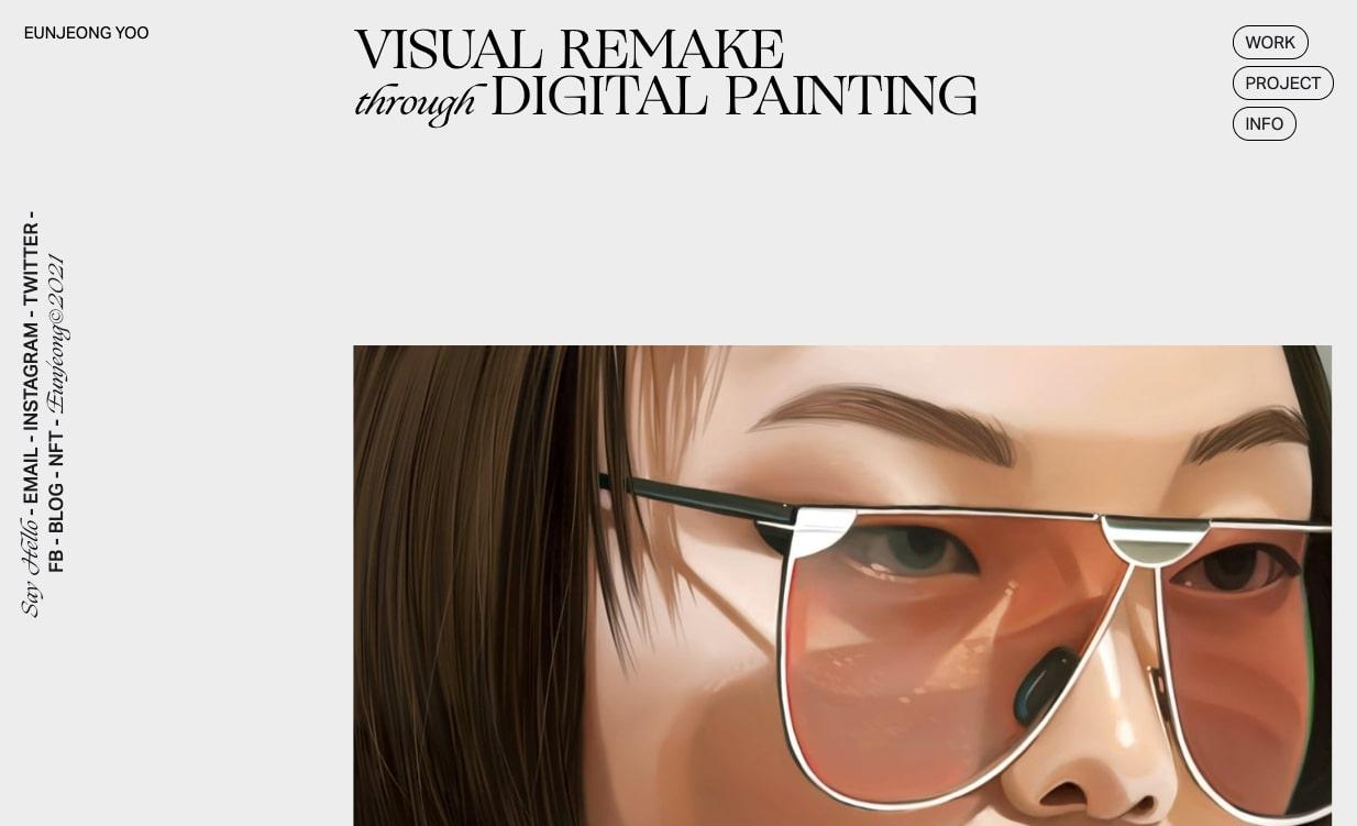 An image of Eun Jeong Yoo's portfolio.
