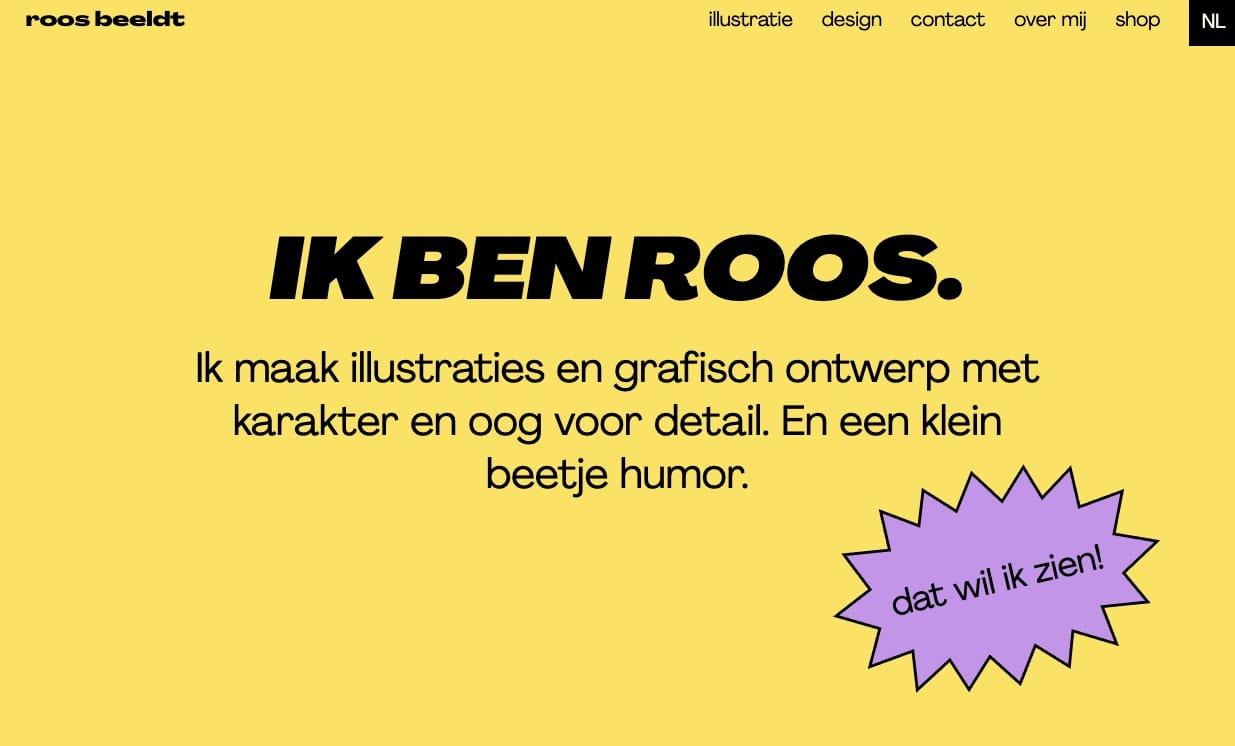 An image of Roos Beeldts portfolio.