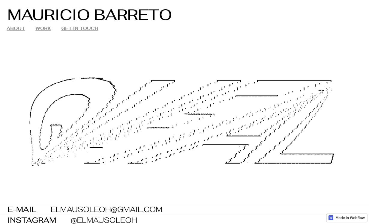 An image of Mauricio Barreto's website.