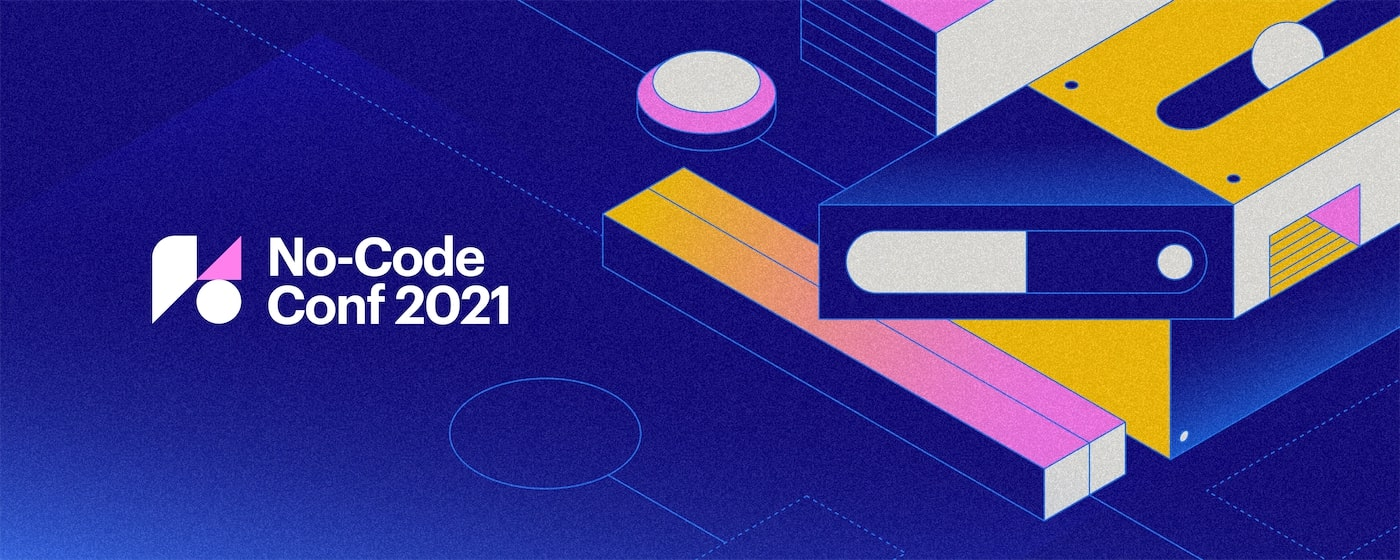 An image with the No Code Conf 2021 logo.