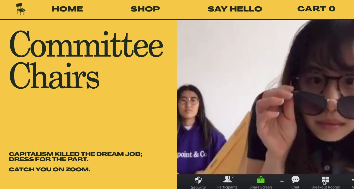 Committee Chairs homepage