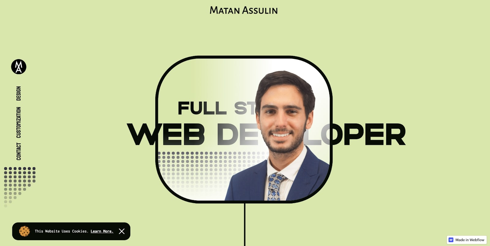 Matan Assulin's portfolio homepage
