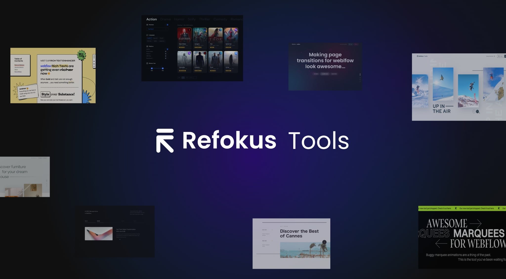 """An image with the """"Refokus Tools"""" logo."""