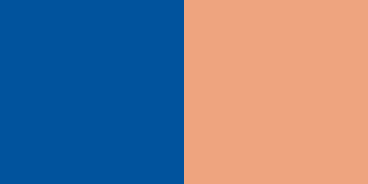 An image of the royal blue and peach color combination.