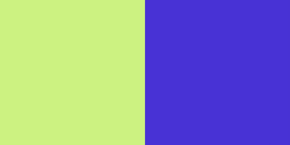 An image of the lime green and electric blue color combinatiion.