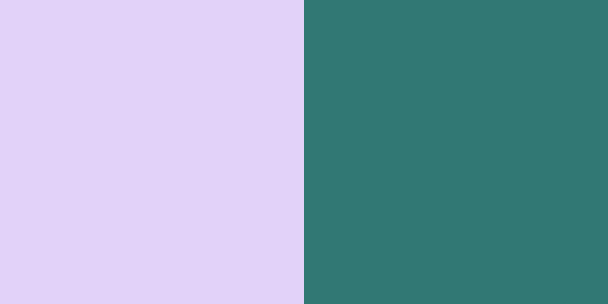 An image of the lavender and teal color combination.