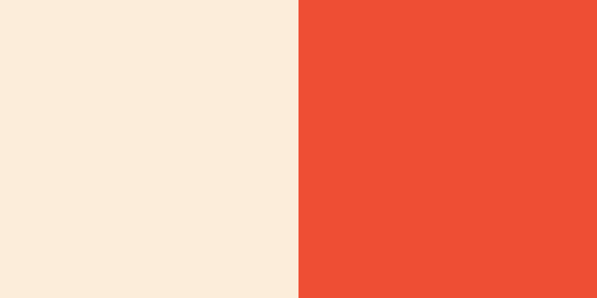 An image of the peach and burnt orange color combination.