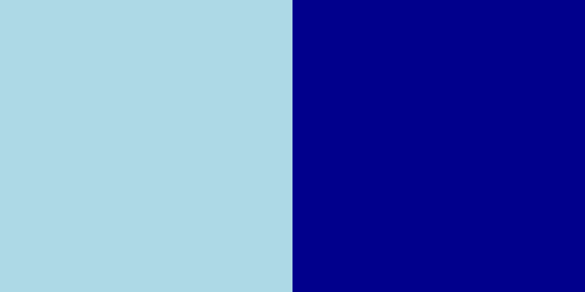 An image of the light blue and dark blue color combination