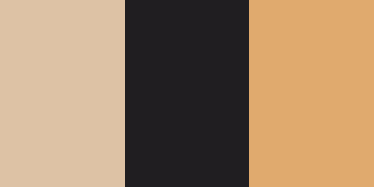 An image of the beige, black-brown, and tan color combination.