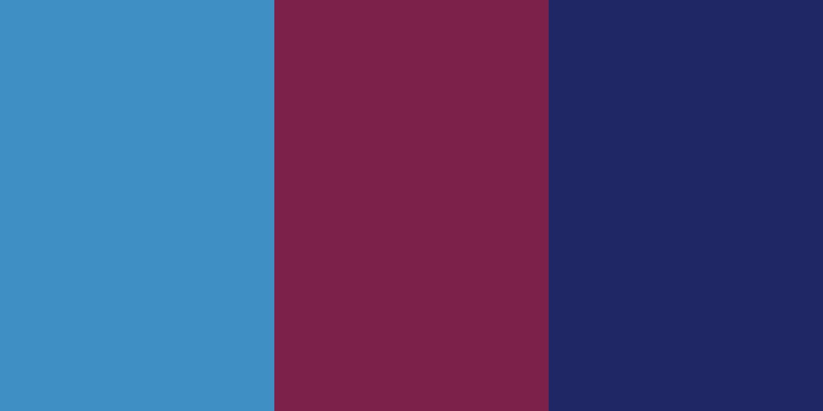 An image of the blue, maroon, and indigo color combination.