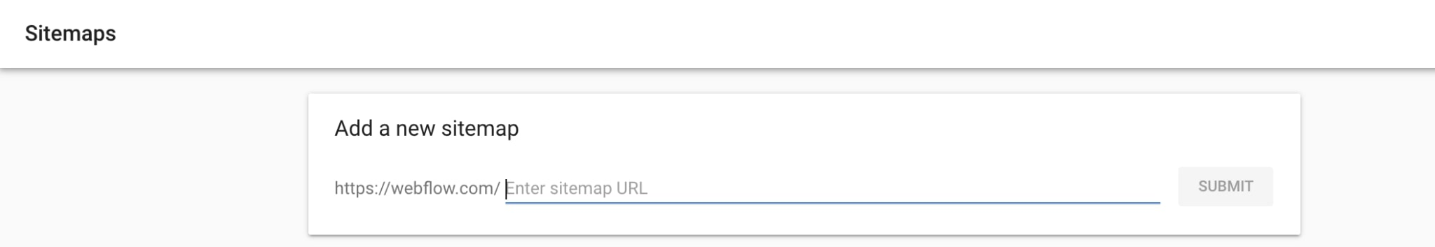 An image of submitting in the search console to notify google of the most inportant pages.