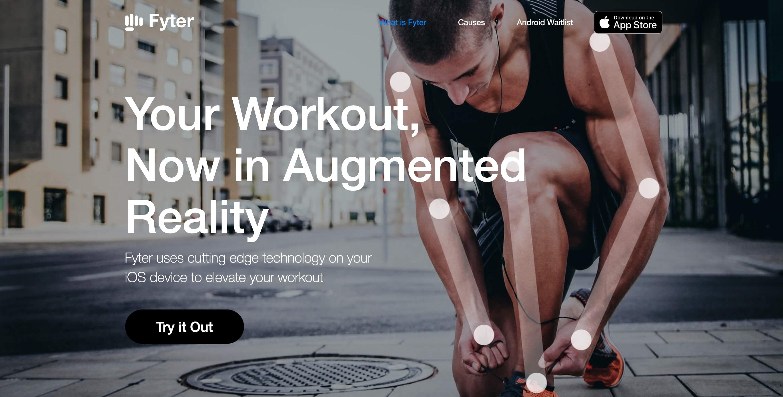 Screenshot of Fyter Homepage