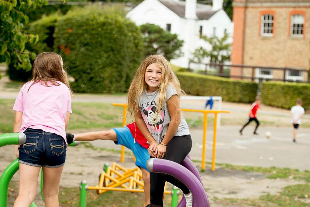 2 girls children playground