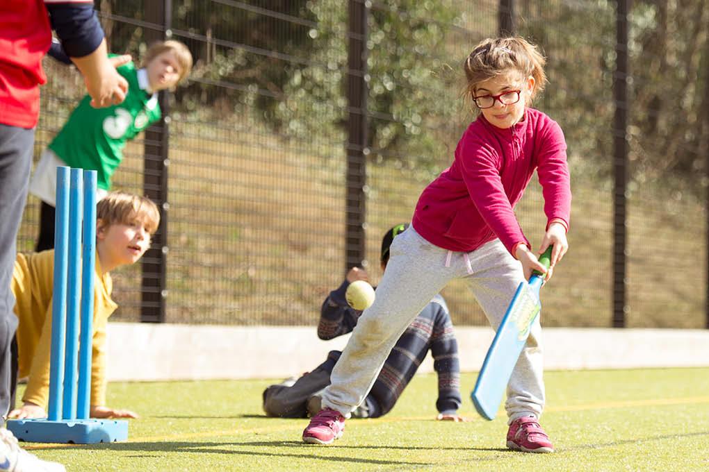 girl cricket fun