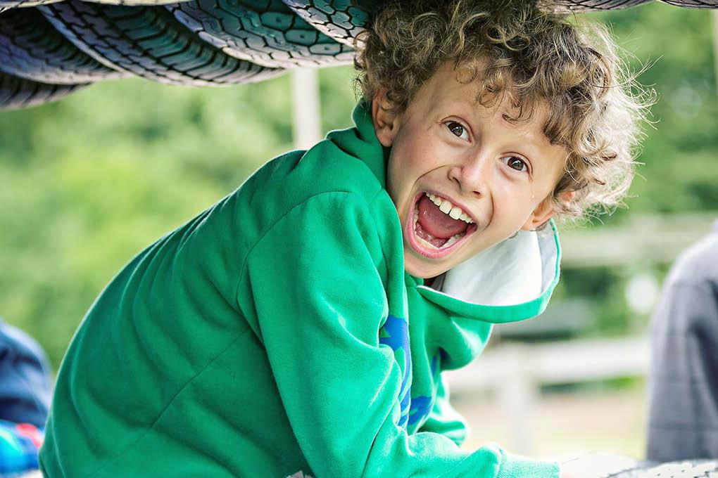 Smiling boy fun