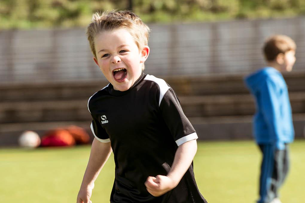Running boy smile fun