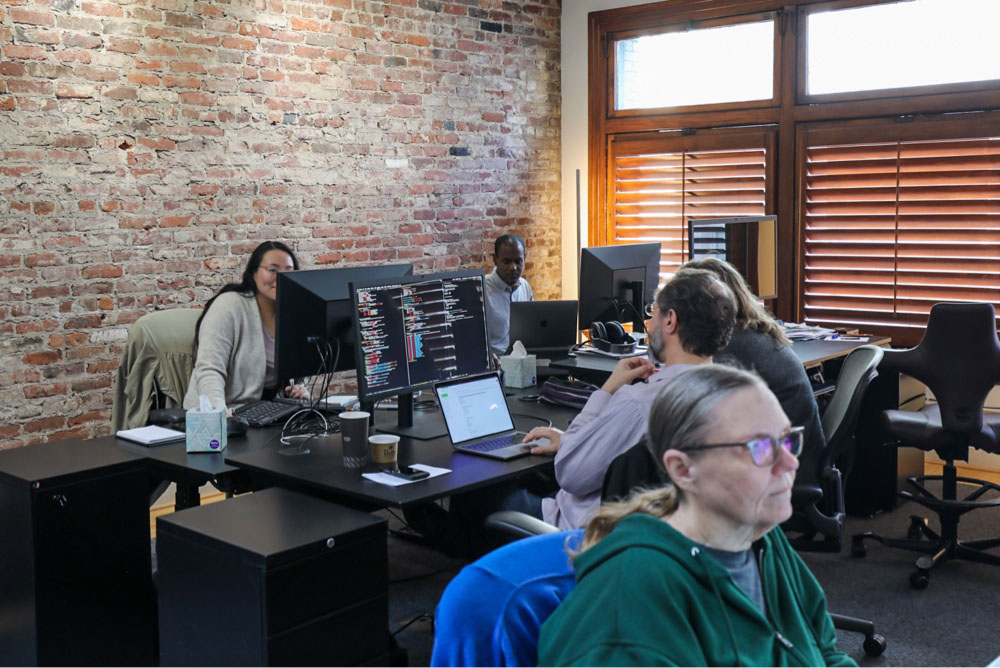 Treasury Prime team working in the office