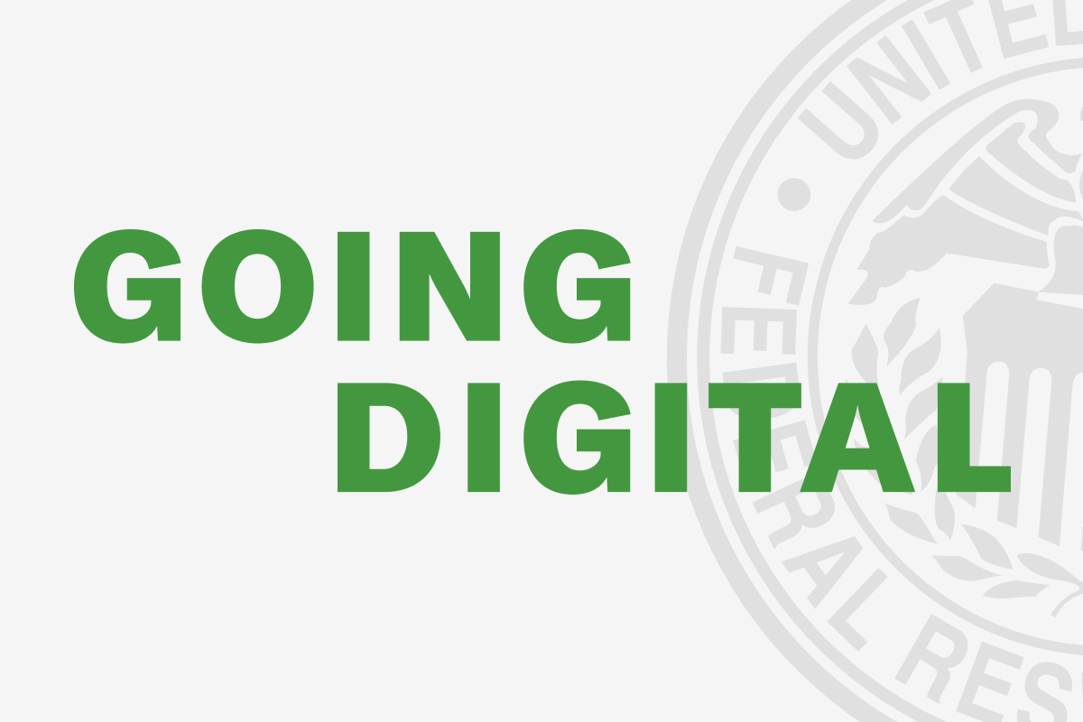 Going Digital: the future of community banks, as discussed with the Philadelphia Federal Reserve.