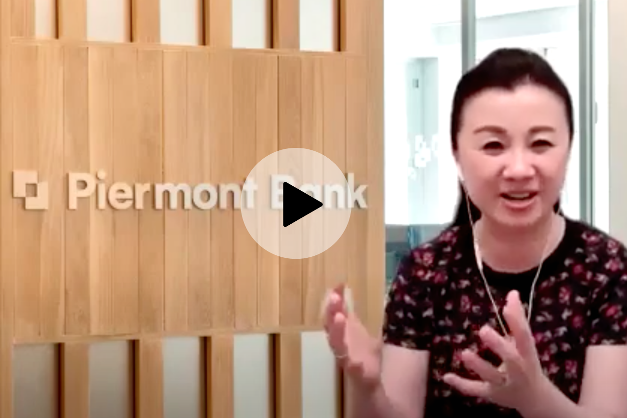 Wendy Cai-Lee, CEO of Piermont bank, speaking during the webinar.