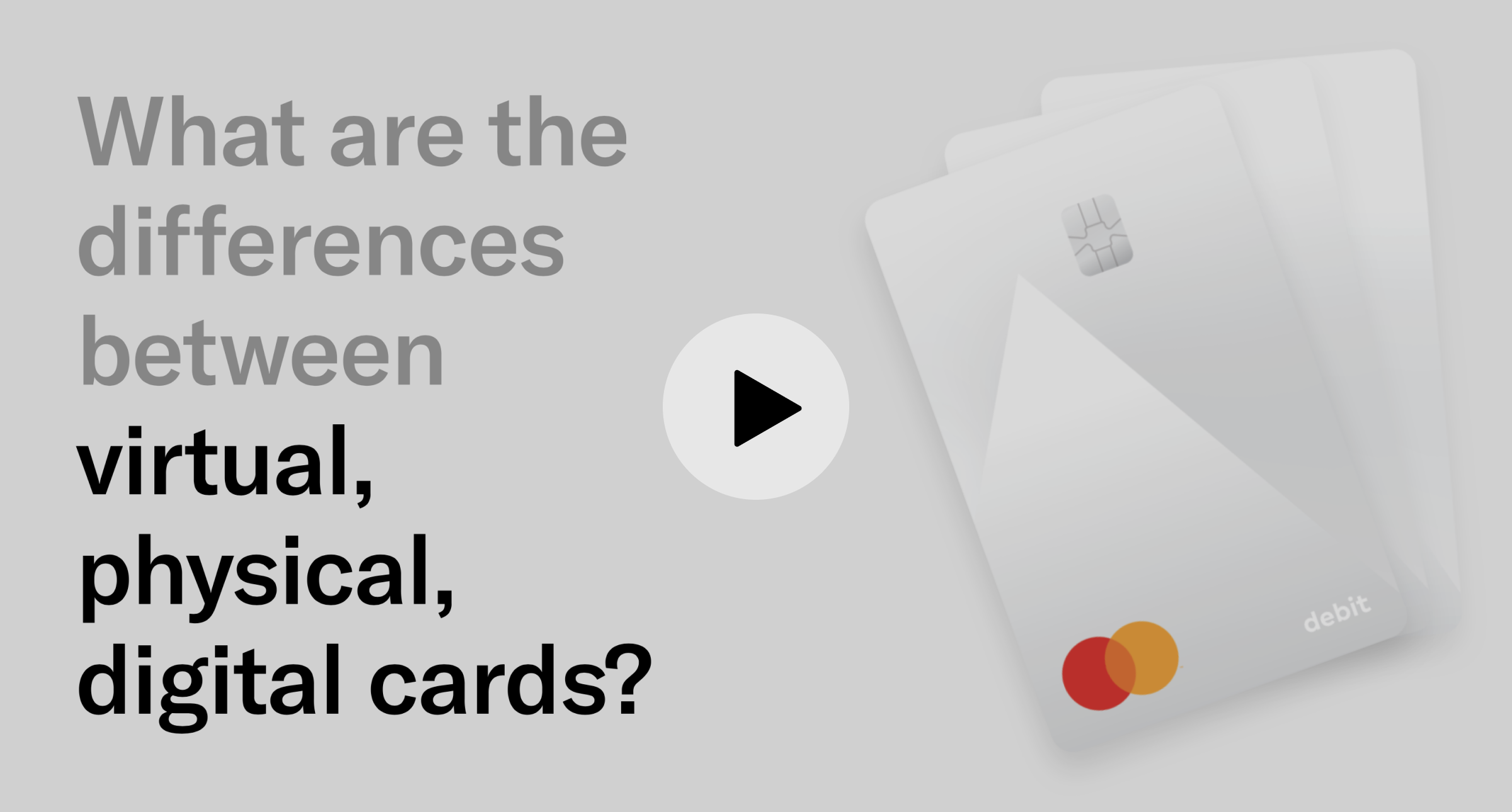 """A slide from the webinar presentation: """"What are the differences between virtual, physical, and digital cards?"""""""