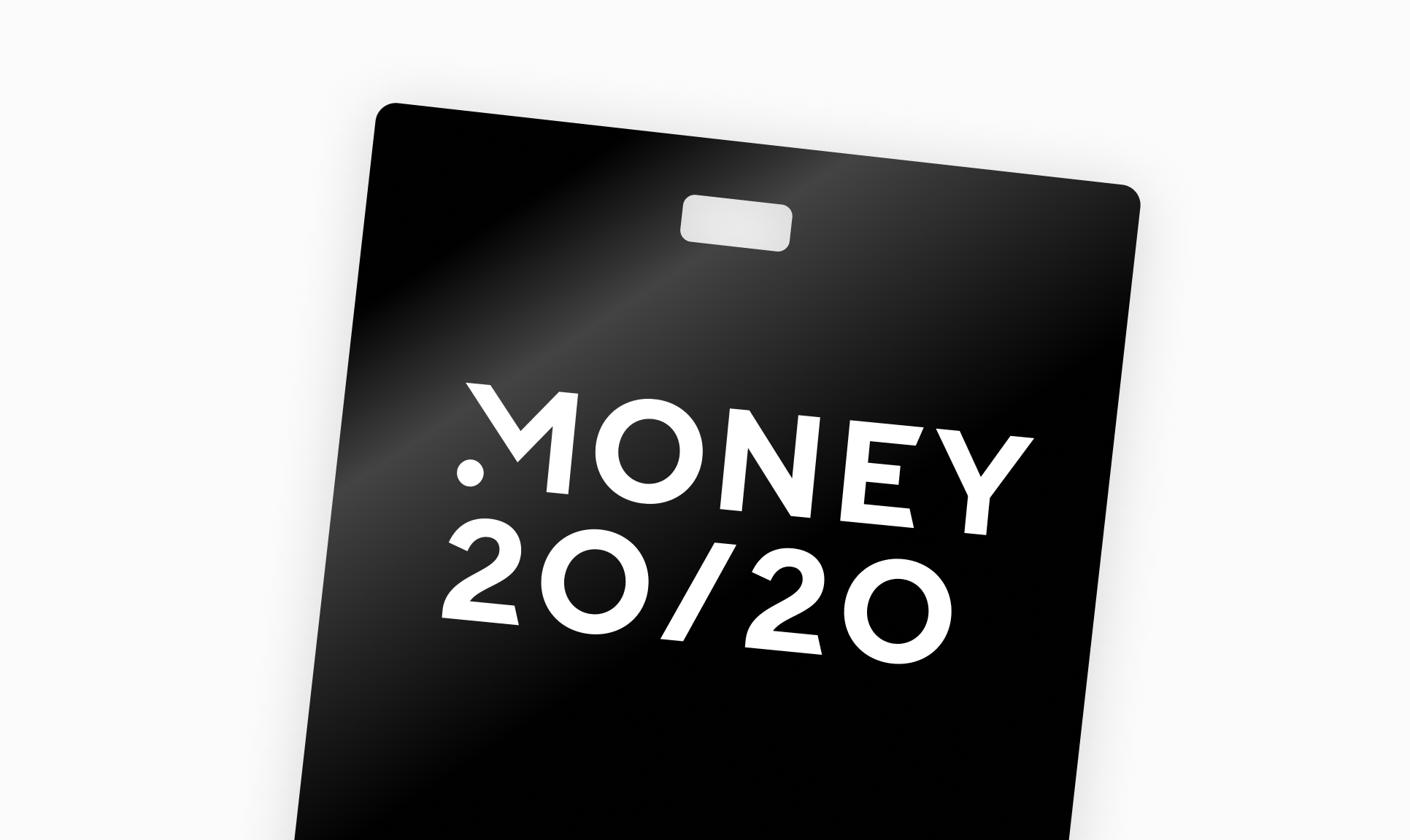Image of a Money 20/20 event badge.