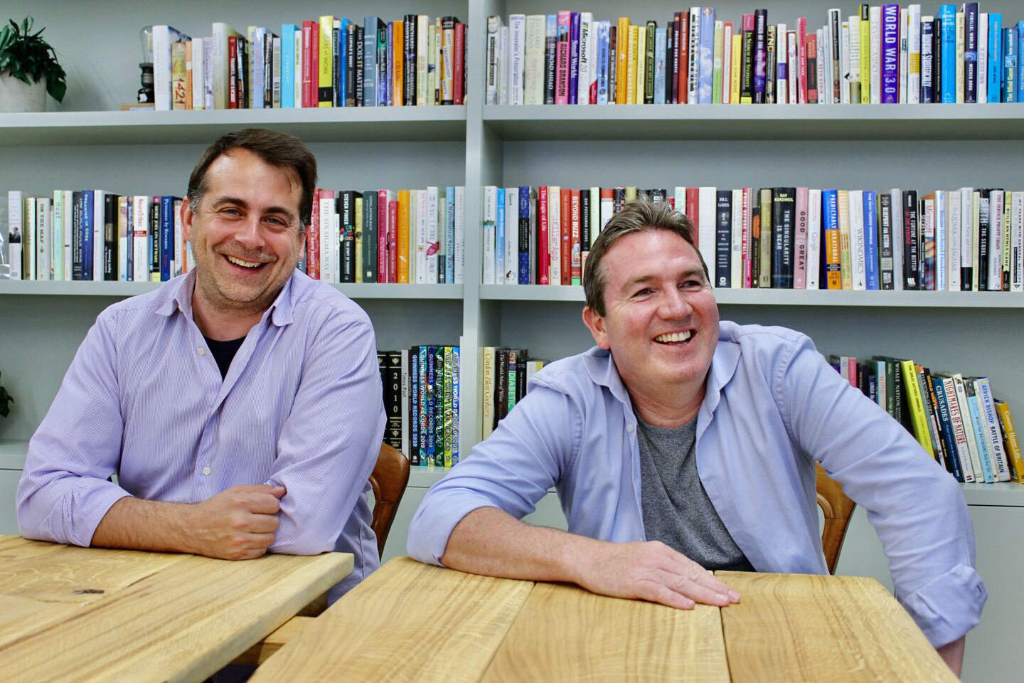 Wagestream's co-founders Portman Wills (left) and Peter Biffet (right)
