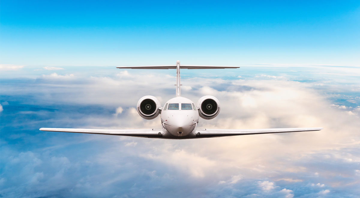 Image of a private jet