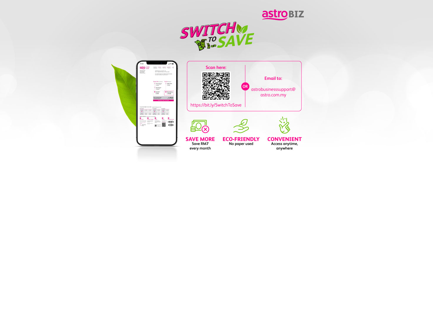 Switch to save RM7 monthly